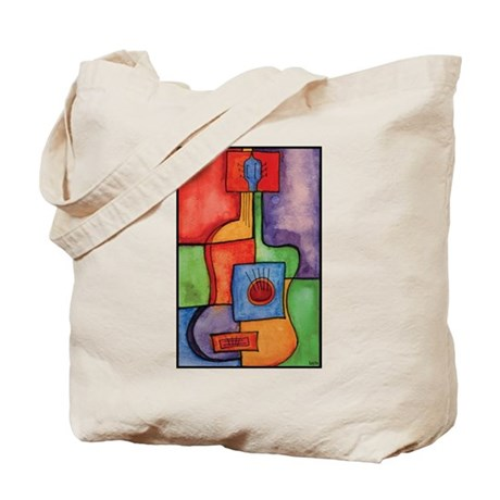 Colorful Guitar Tote Bag