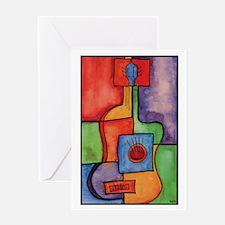 Colorful Guitar Greeting Card