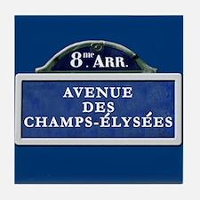 Paris Street Sign Tile Coaster