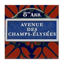 Champs Elysee Art Deco Tile Coaster