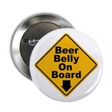 "Beer Drinkers Beer Belly 2.25"" Button (10 pack)"