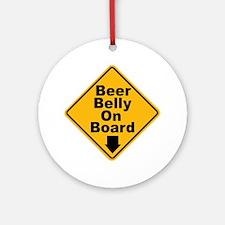 Beer Drinkers Beer Belly Keepsake (Round)