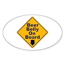 Beer Drinkers Beer Belly Oval Decal