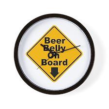 Beer Drinkers Beer Belly Wall Clock