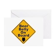 Beer Drinkers Beer Belly Greeting Cards (Package o