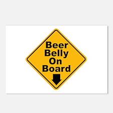 Beer Drinkers Beer Belly Postcards (Package of 8)