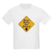 Beer Drinkers Beer Belly (Front) Kids T-Shirt