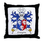 Gwynn Family Crest Throw Pillow