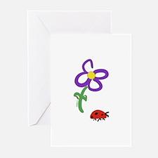 Cute Flower blank Greeting Cards (Pk of 10)