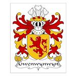 Gwenwynwyn Family Crest Small Poster