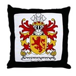 Gwenwynwyn Family Crest Throw Pillow