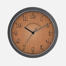 Wood Texture Wall Clock