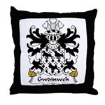 Gwdinwch Family Crest Throw Pillow
