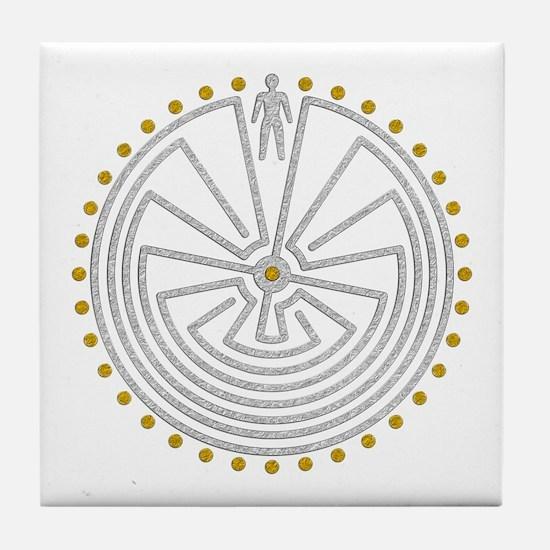 Funny Labyrinth Tile Coaster