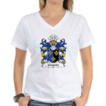 Gwarin Family Crest Women's V-Neck T-Shirt