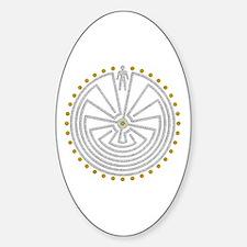 Cute Labyrinth Sticker (Oval)