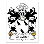 Gwallter Family Crest Small Poster