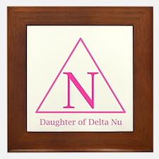 Daughter of Delta Nu Framed Tile