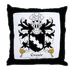 Gwair Family Crest Throw Pillow