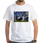 Starry Night / Welsh Corgi(bi White T-Shirt