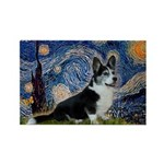 Starry Night / Welsh Corgi(bi Rectangle Magnet (10