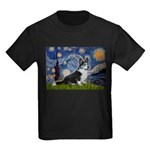 Starry Night / Welsh Corgi(bi Kids Dark T-Shirt