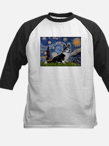 Starry Night / Welsh Corgi(bi Kids Baseball Jersey