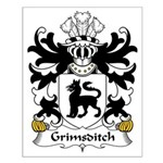 Grimsditch Family Crest Small Poster