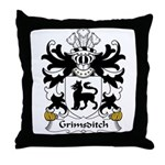 Grimsditch Family Crest Throw Pillow
