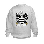 Gray Family Crest Kids Sweatshirt
