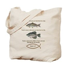 Gone Fishing Christian Style Tote Bag