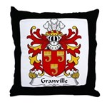 Granville Family Crest Throw Pillow