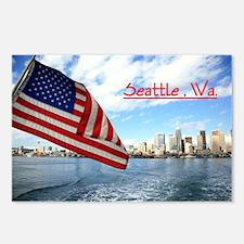 Unique Seattle souvenir Postcards (Package of 8)