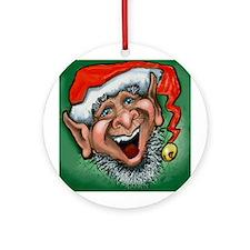 Cute Christmas elf Ornament (Round)