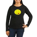 Dead face Women's Long Sleeve Dark T-Shirt