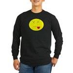 Dead face Long Sleeve Dark T-Shirt