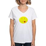 Dead face Women's V-Neck T-Shirt