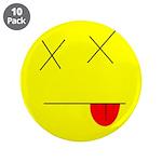"""Dead face 3.5"""" Button (10 pack)"""