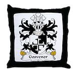 Gosvenor Family Crest Throw Pillow