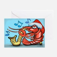 Cute New orleans christmas Greeting Cards (Pk of 10)