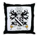 Gold Family Crest Throw Pillow