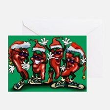 Unique Pepper christmas Greeting Card