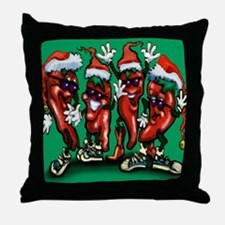 Funny Pepper christmas Throw Pillow