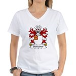 Gloucester Family Crest Women's V-Neck T-Shirt