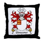 Gloucester Family Crest Throw Pillow
