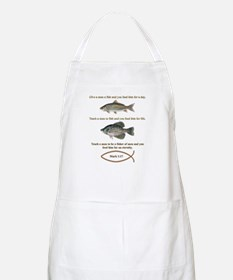 Gone Fishing Christian Style Apron