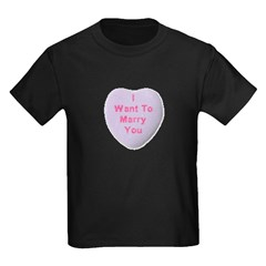 I Want To Marry You Kids Dark T-Shirt