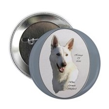 "White German Shepherd 2.25"" Button (10 pack)"