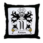 Forden Family Crest Throw Pillow