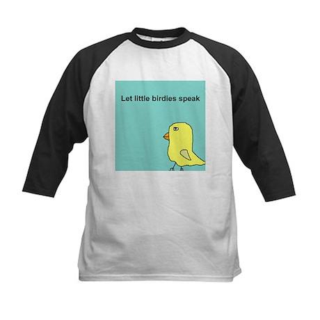 Let little birdies speak Kids Baseball Jersey